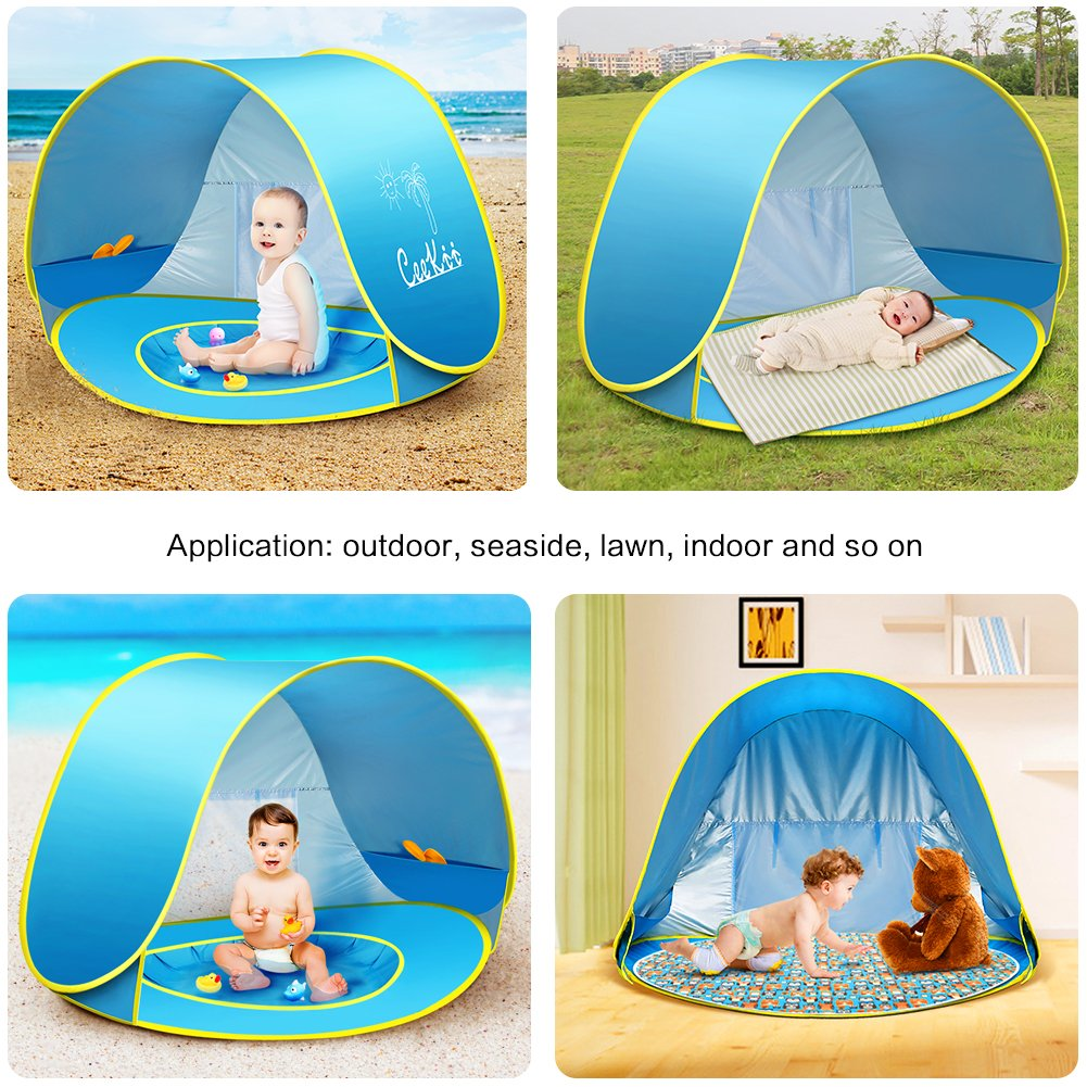 Details about Ceekii Outdoor Automatic Pop Up Baby Beach Tent Infant Portable Cabana Shade UV