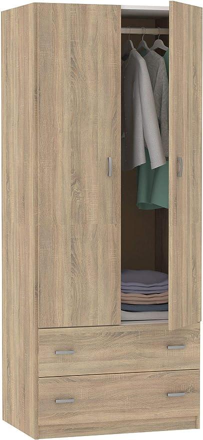 Armario ropero 2 Puertas 2 cajones habitación Juvenil Matrimonio Auxiliar Color Cambrian 180x74x50 cm: Amazon.es: Hogar