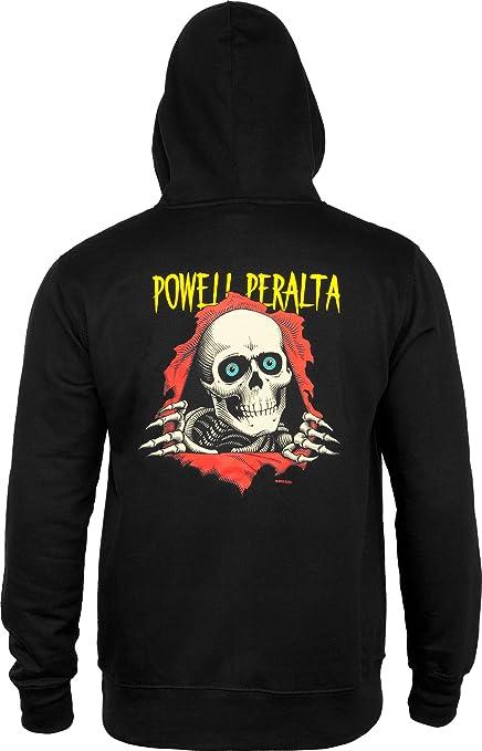 Powell Peralta RIPPER PULLOVER Skateboard Hoodie CHARCOAL MEDIUM