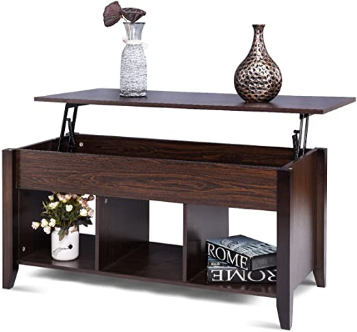 Amazon Com Lift Top Coffee Table W Hidden Compartment Storage