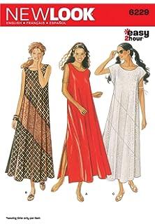8a7111d4b683 Amazon.com  New Look Sewing Pattern 6889 Misses Dresses