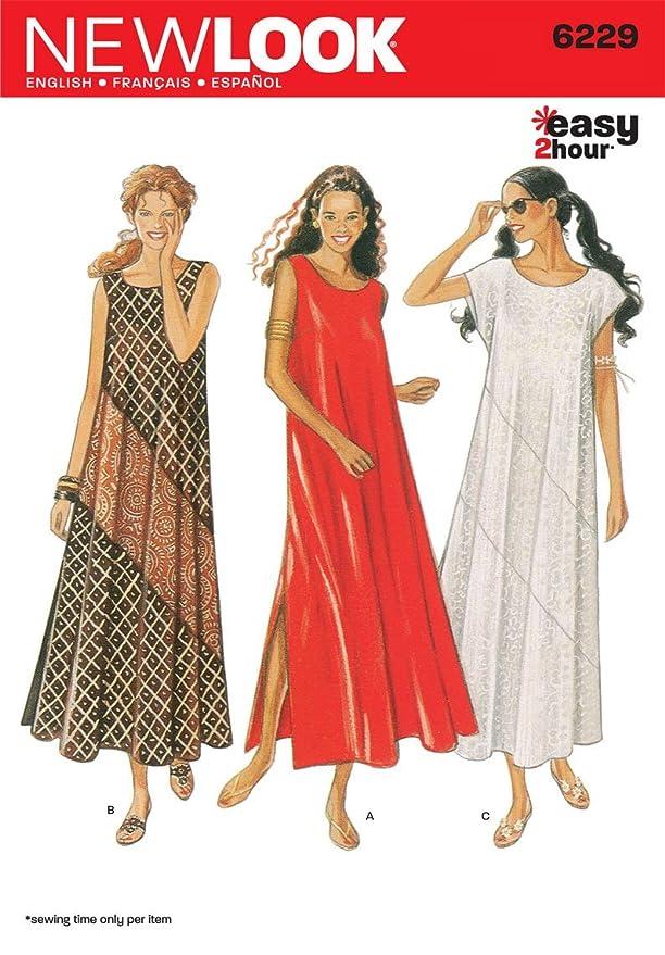 New Look Simplicity Schnittmuster 6229 für Damenkleider, Gr. 38-48 ...