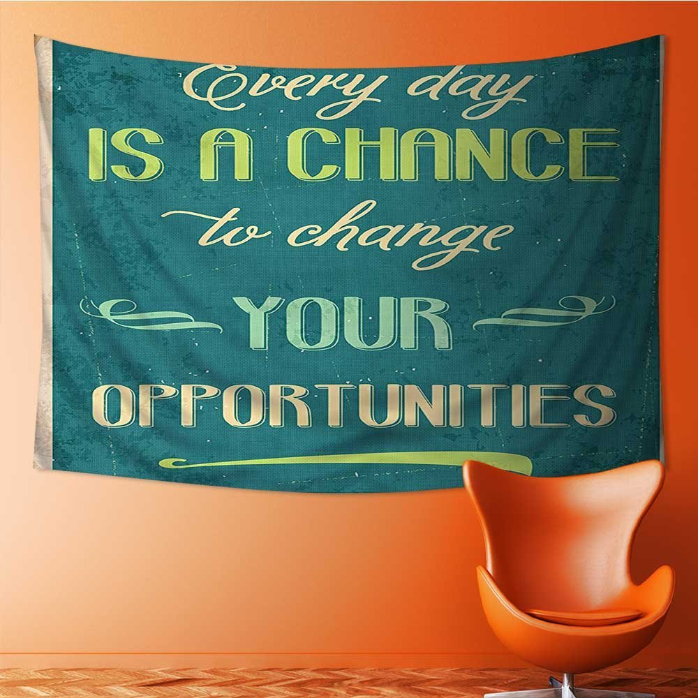 SeptSonne Tapestry Wall Hanging Every Day is a Chance to Change Your Opportunities Poster Print Home Decorations for Bedroom Dorm 60W x 40L Inch
