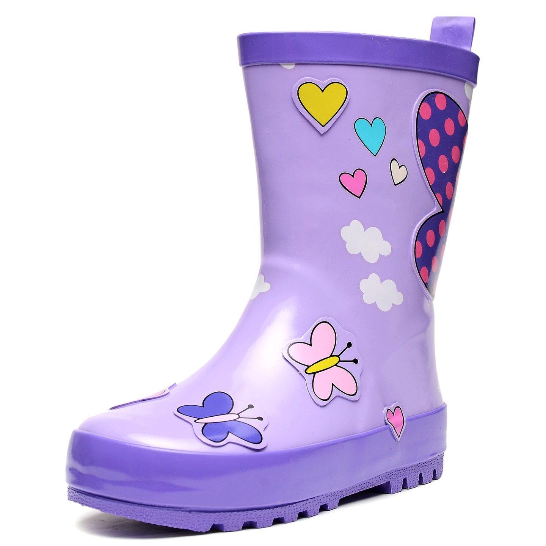 UBELLA Kids Boys Girls Cute Printed Waterproof Slip-on Rubber Rain Boots (Toddler/Little Kids)