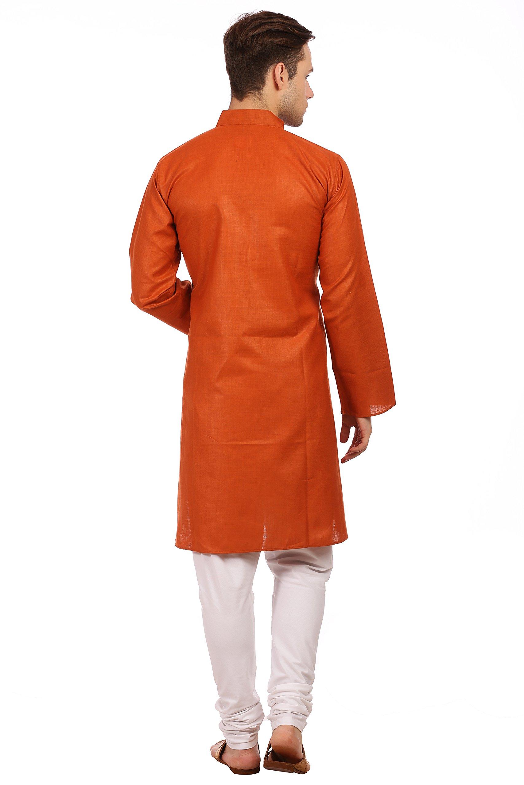 Wintage Men's Cotton Silk Festive and Casual Red Kurta Pyjama by WINTAGE (Image #4)
