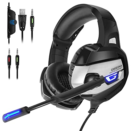 ONIKUMA PC Gaming Headset para PS4 Xbox One, Auriculares estéreo USB de 3,5
