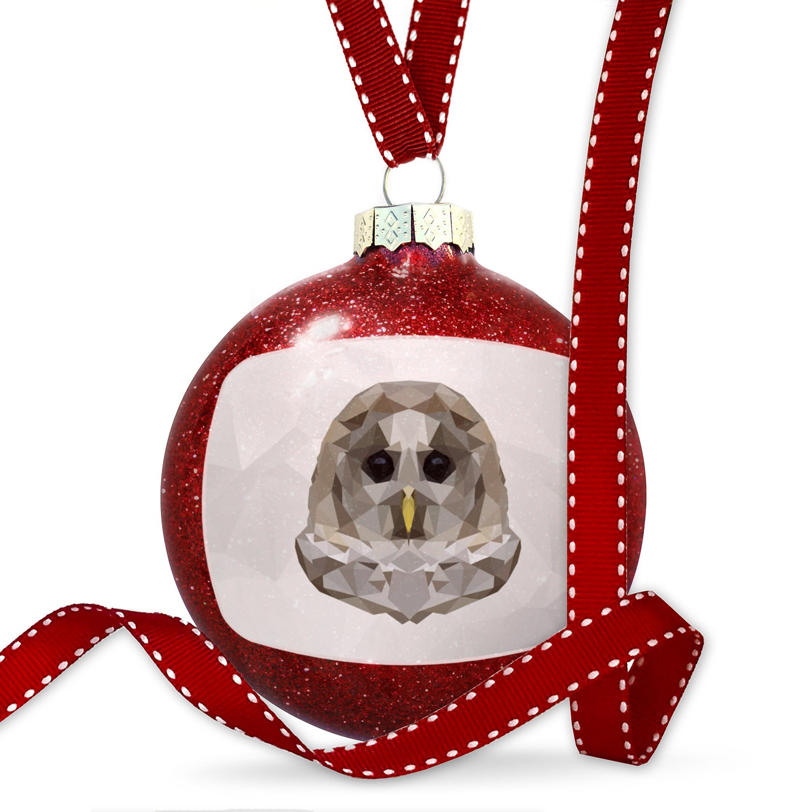 Christmas Decoration Low Poly zoo Animals Barred Owl Ornament