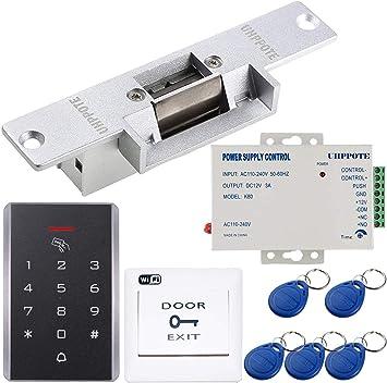 UHPPOTE Kit de control de acceso de teclado de puerta WiFi de 2.4 G, bloqueo de golpe eléctrico