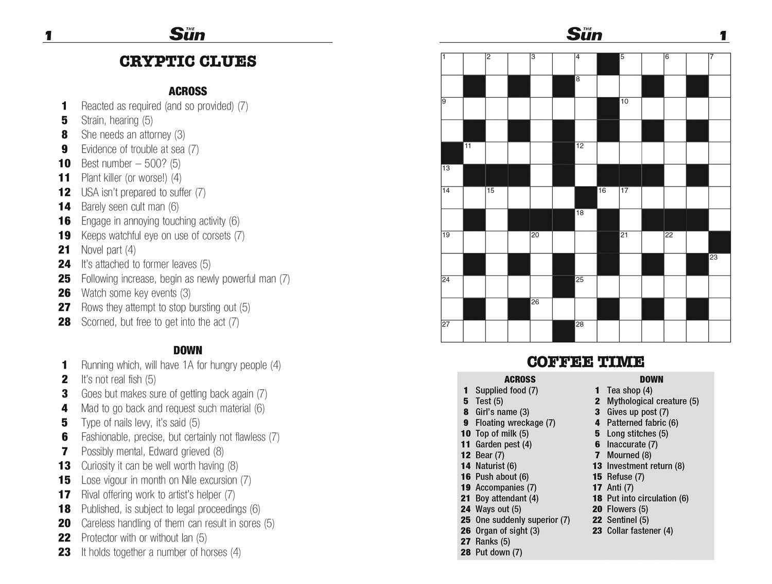 The Sun Two Speed Crossword Collection 2 160 In One Cryptic And Coffee Time Crosswords Bind Up Edition 9780008127541 Amazon Books