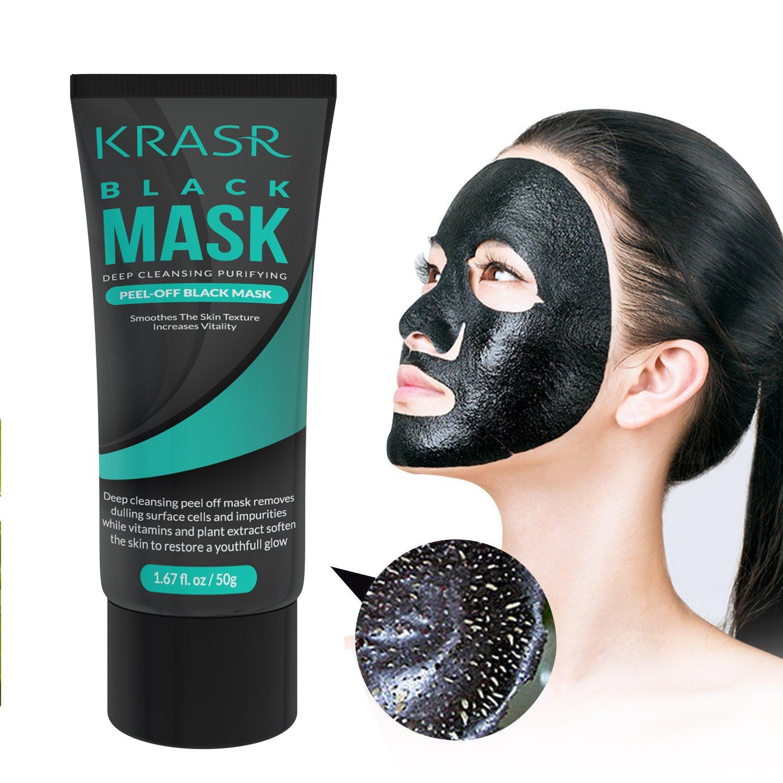 Blackhead Remover Mask, Black Mask, Peel Off Mask, Charcoal Mask, Blackhead Peel Off Mask 50g (1.67 Oz) By Krasr