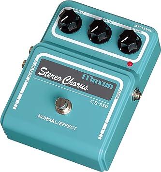 Maxon CS-550 Stereo Chorus · Pedal guitarra eléctrica: Amazon.es: Instrumentos musicales