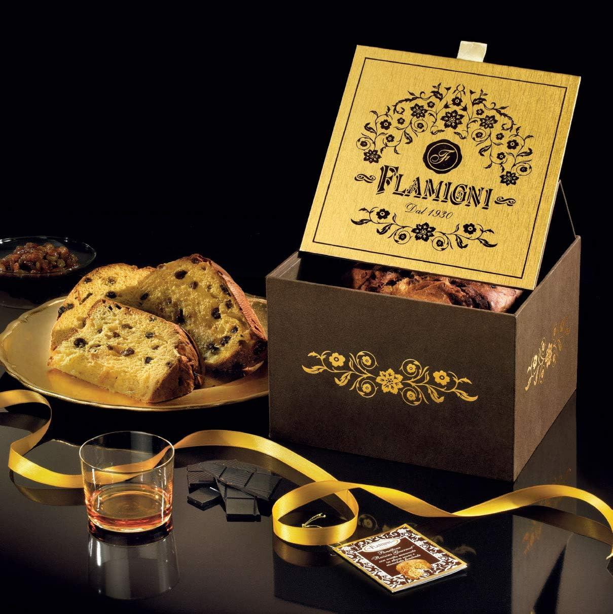 Flamigni - Panettone gourmet con ron y chocolate 1kg