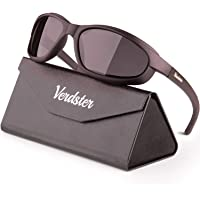 Verdster Polarized Sports Sunglasses for Men & Women - Foam Padded - UV Protection - Great for Motorcycle, Cycling…
