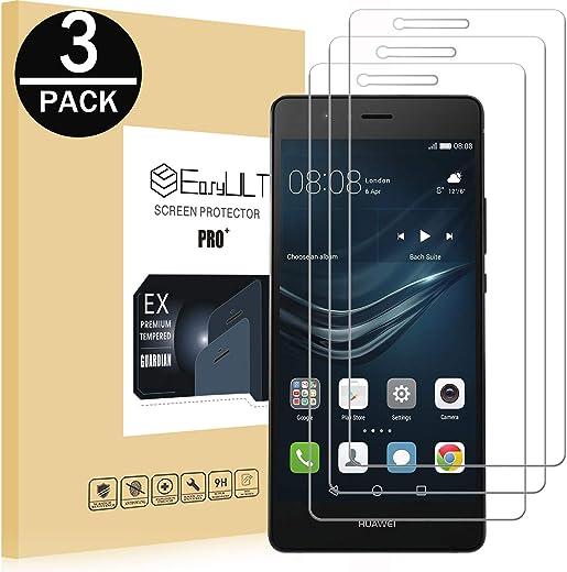 [2-Pack]Pellicola Protettiva Huawei P9 Lite,EasyULT 2 Pack Pellicola Protettiva in Vetro Temperato per Huawei P9 Lite(Vetro con Durezza 9H, Spessore di 0,26 mm,Bordi Arrotondati da 2,5D-Shockproof)