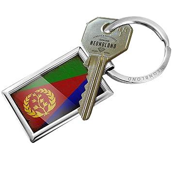 Amazon.com: Llavero Eritrea bandera con un aspecto clásico ...