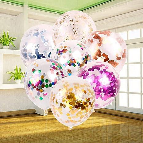 Amazon.com: 5 globos de metal para confeti, para el día de ...