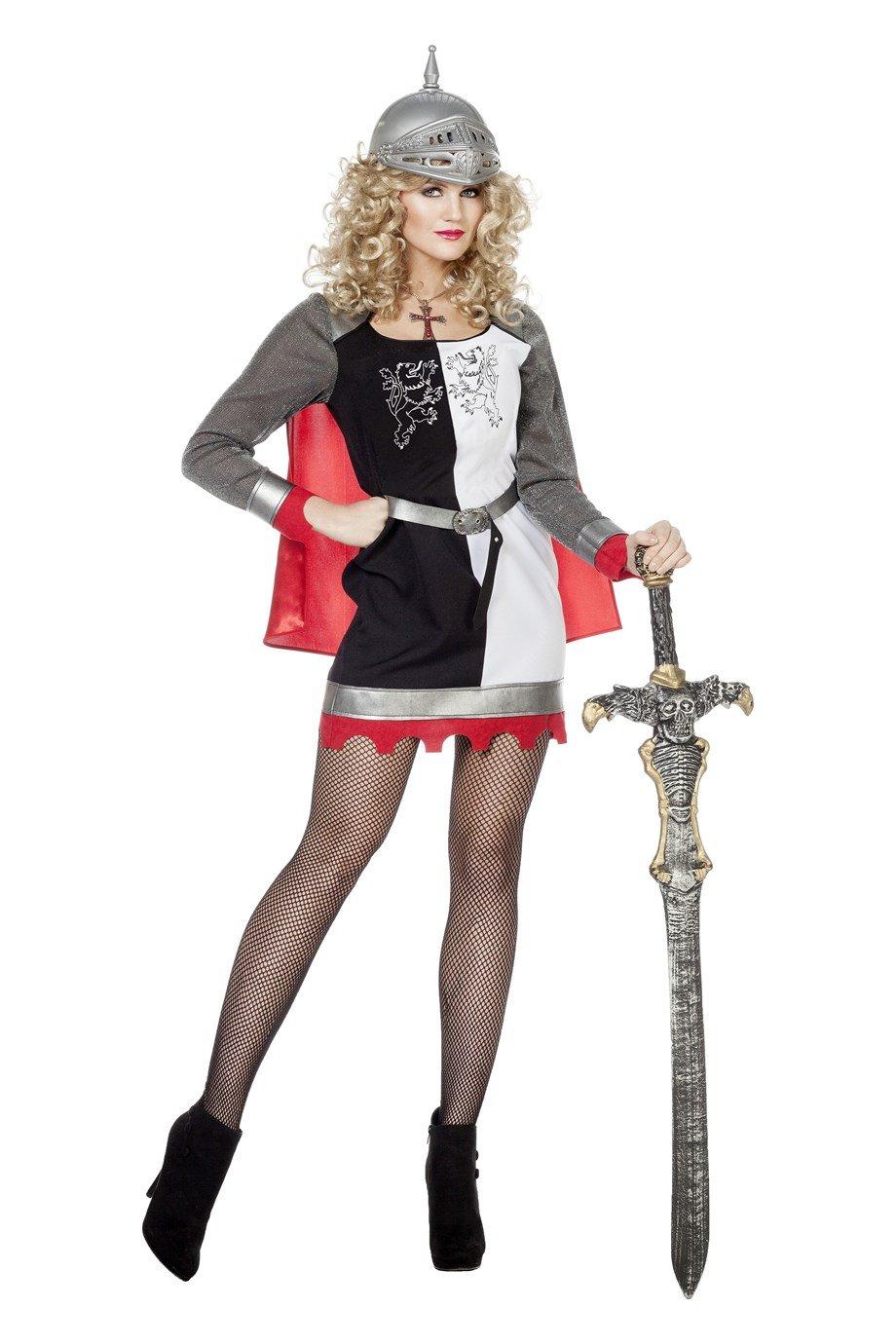 The Fantasy Tailor Tailor Tailor Ritter Kostüm Damen Mittelalter Grau Rot Hose, Oberteil und Kapuze Rollenspiel Cosplay Mittelalter-Tracht Karneval Fasching Hochertiges Kostüm Größe 42 Rot 9b0985