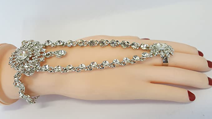Joyas de la boda - Un regalo perfecto-HP1820S-Mano Panja India Bollywood anillo