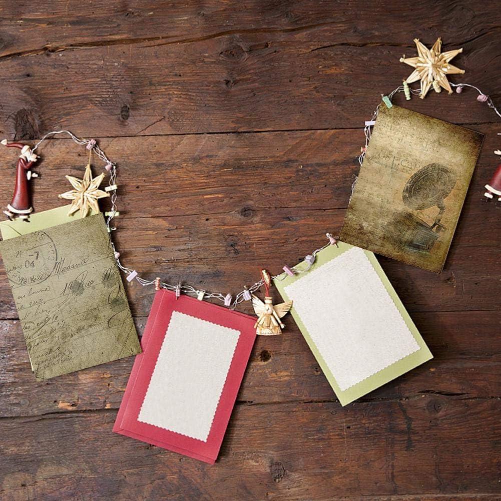 Papier Vintage pour Scrapbooking Tampons Carte Faisant Fond D/écor Artisanat pour Photo Album Gurilande Photos 14pcs Papier Decoratif Scrapbooking Bricolage Album