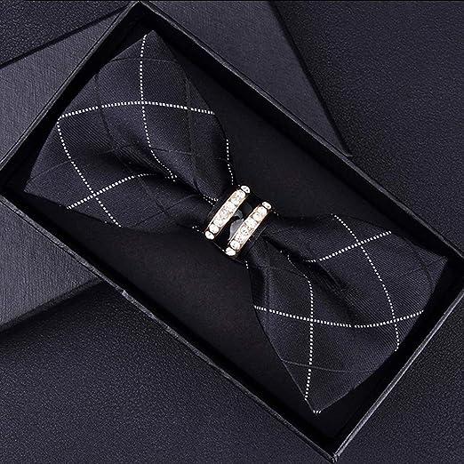 De los hombres clásicos 100% corbata de seda de la boda Pajarita ...