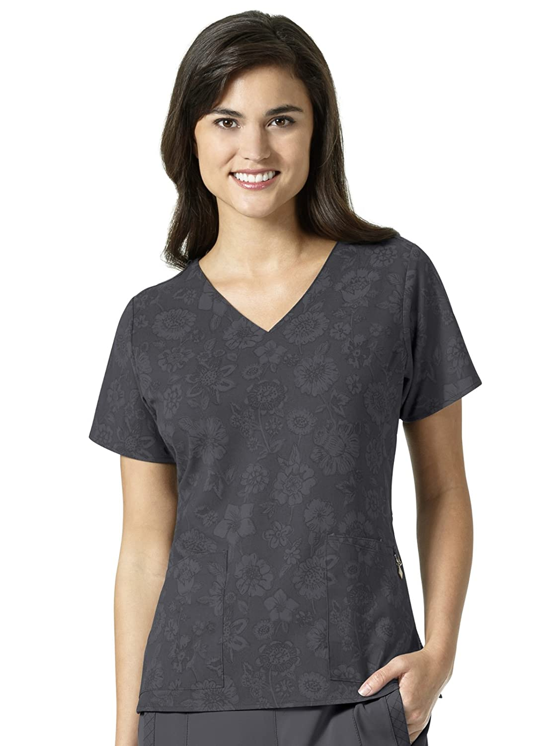 52cf29103a7 Amazon.com: Vera Bradley Halo Collection Women's Nettie V-Neck Print Scrub  Top: Clothing