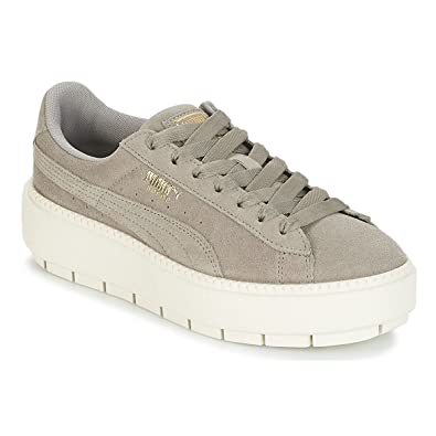 buy popular 0d6e5 e882b Amazon.com | PUMA Women's Platform Trace Trainers Rock Ridge ...