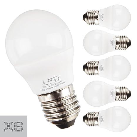 Sunmatic Bombilla LED MiniGlobe 6W=42 W | 470 Lúmenes | Rosca E27 | No