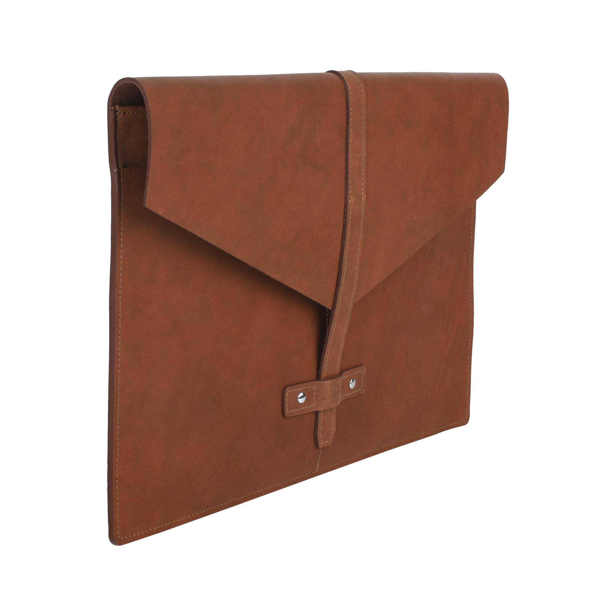 SLATE COLLECTION Belltown Small Laptop Sleeve, Full-Grain Leather (Cognac, fits 13'' Laptop) by SLATE COLLECTION (Image #6)