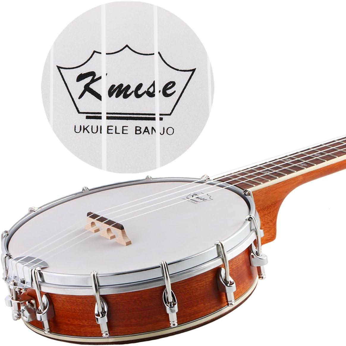 4 String Banjo Ukulele Banjos Ukelele Uke Concert Type 23 Inch with Closed Back Brackets Head /& Maple Neck