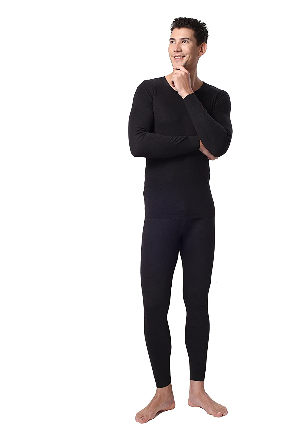 19fd11ff873a Mens 2-PC Ultra Soft Thermal Underwear Set Waffle Knit Long Johns Top and  Bottom 100% Cotton at Amazon Men's Clothing store: