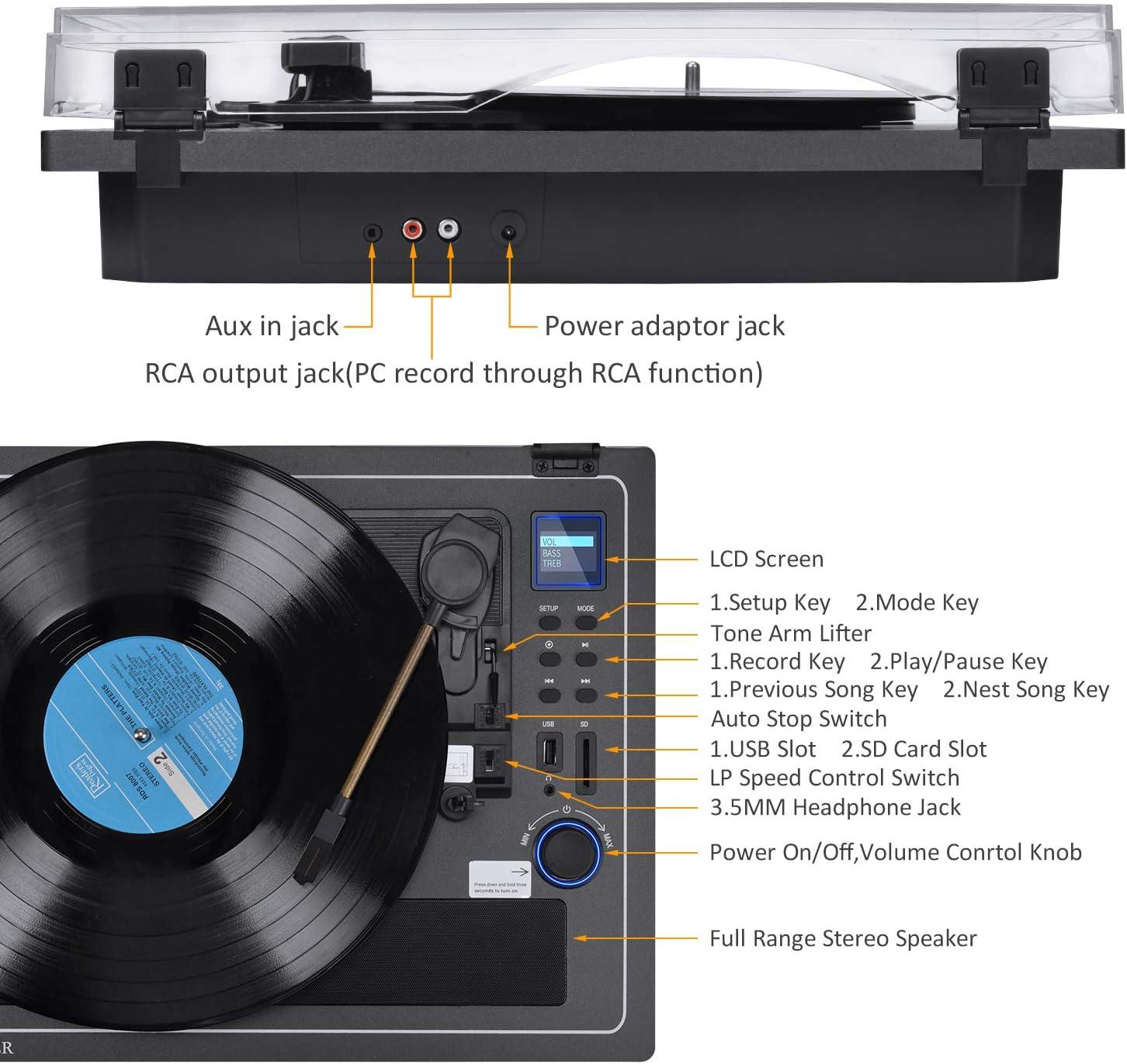 Amazon.com: Reproductor de grabaciones con Bluetooth ...