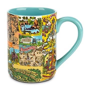Amazon.com | Disney World/Disneyland Magic Kingdom Map Mug: Coffee ...