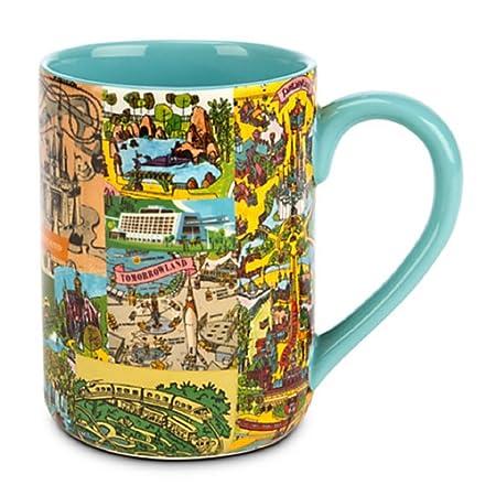Disney World/Disneyland Magic Kingdom Map Mug: Amazon.co.uk ...