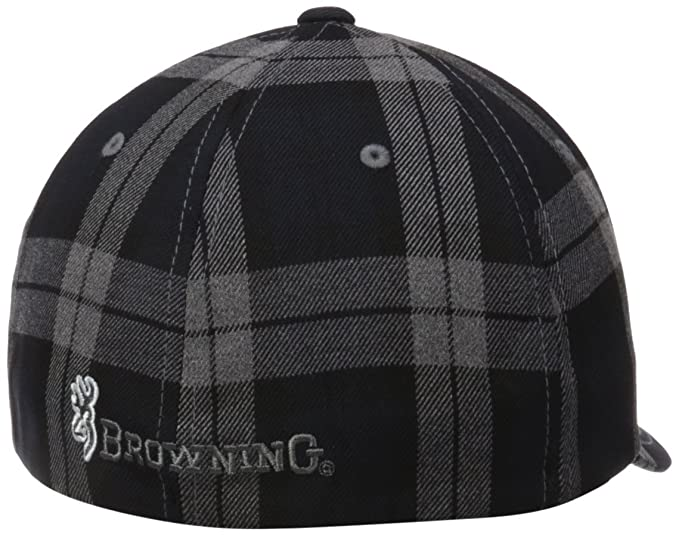 80b59a08b8f 50% off amazon browning tartan plaid cap black small medium sports outdoors  10f1d 685eb