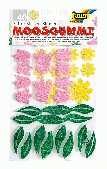 Fiori Gialli Germania.Folia 23795 Schiuma Adesivi Fiore Lucido Verde Giallo Rosa