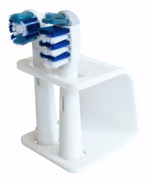 Seemii detiene per testa spazzolino elettrico, si adatta Oral-B, plastica, detiene 2 o 4 teste, bianco (4 teste) Seemii Ltd