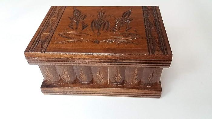 Nueva caja del rompecabezas de madera chocolate marrón joyero de madera caja mágica sorpresa caja tallada