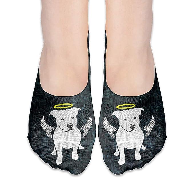 Pit Bull Terrier Dog Women s Non Slip Flat Boat Line No Show Socks ... 33421e2c4