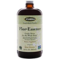 Flor Essence Detox Tea Cleanse - 32 Oz LARGE - 16 Day Gentle Herbal Cleanse Laxative...