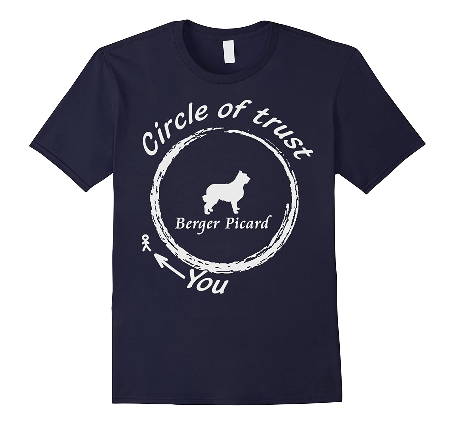 Berger Picard shirt - Berger Picard Circle of trust Dog T sh-TD