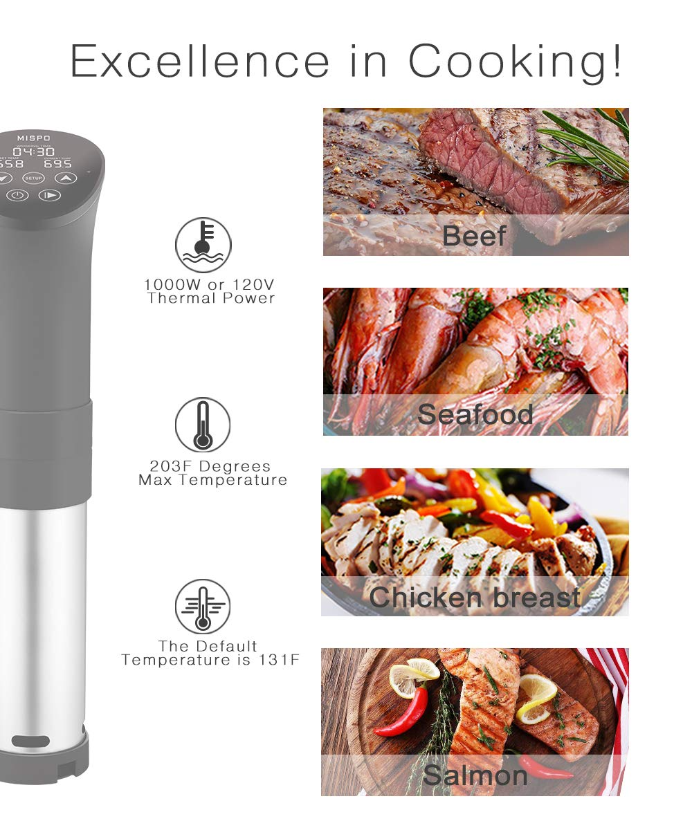 MISPO Sous Vide Cooker Precise Immersion Circulator