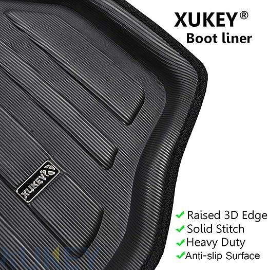 XUKEY For RAV4 RAV-4 2006 2007 2008 2009 2010 2011 2012 Tailored Boot Liner Cargo Tray Rear Trunk Liner Floor Mat Sheet Carpet Luggage Tray Waterproof