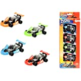 toi-toys–Kart retro-friction 4-teilig in Box Fenster Modelle Einfache, 27005A, Mehrfarbig