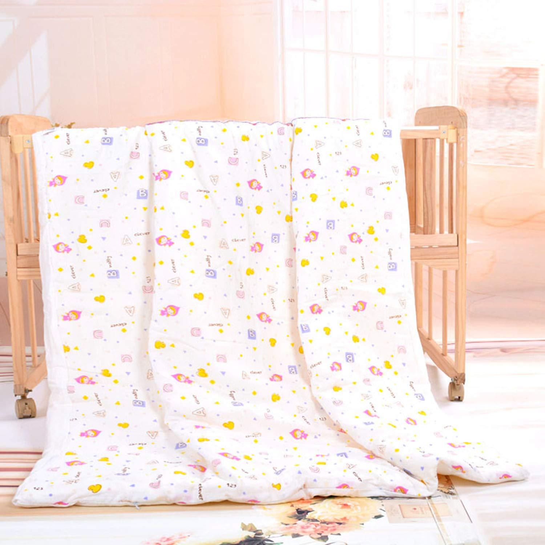 子供用サマーキルト、綿、春と秋、布団コア、涼しい、かわいい、手作りエアコンキルト、110×140 cm B07QJTRB89 D