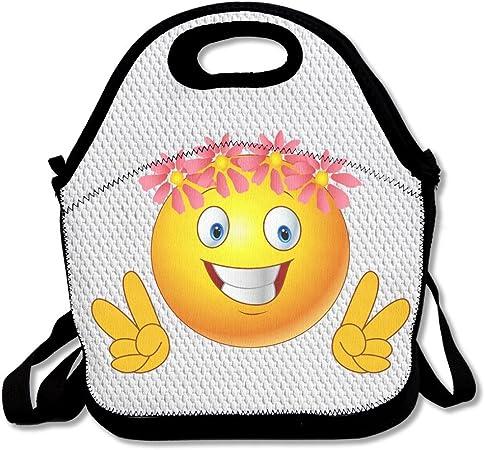 Kawaii Emoji Say Yeah viaje Picnic bolsa para el almuerzo lonchera ...
