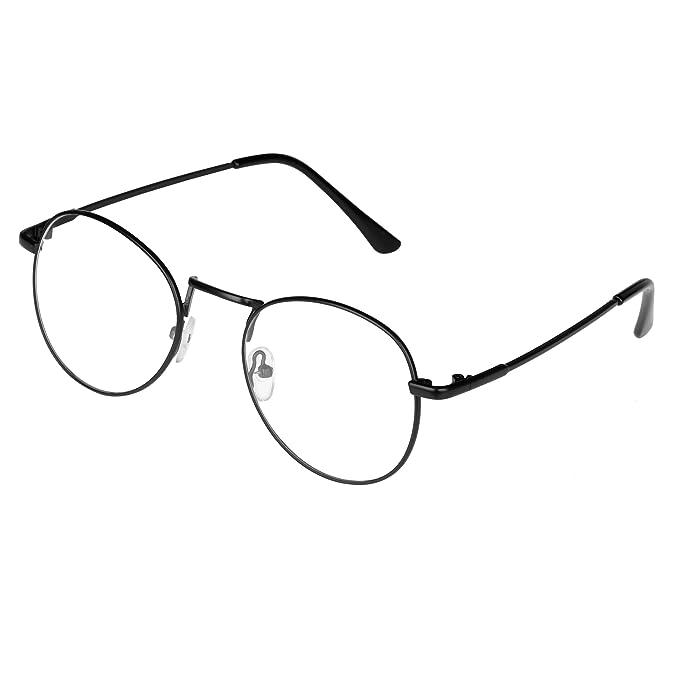 Forepin® Unisex Ovale Montatura Occhiali da Vista Occhio Frame Struttura Vetri Ottici Pianura rotonda vetro Plain completa-Rim Occhiali (Stile 5) kr6iBl