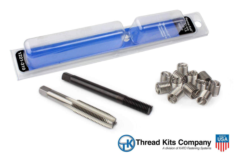 Perma Coil 1221-310 Metric Thread Repair Kit M10X1.5 12PC Helicoil 5403-10