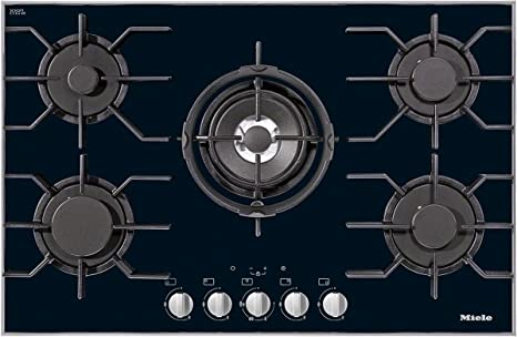 Miele KM3034 built-in Gas Black hob - Hobs (Built-in, Gas, Glass ...