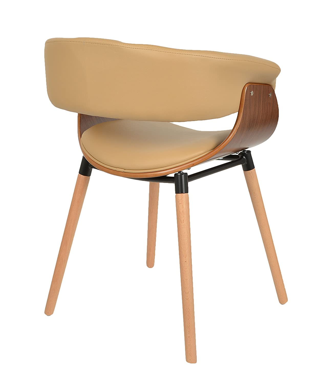 Stuhle Esszimmer Beige #16: Ts-ideen 1x Design Club Stuhl Barstuhl Küchen Esszimmer Stuhl Sitz In  Hellbraun: Amazon.de: Küche U0026 Haushalt