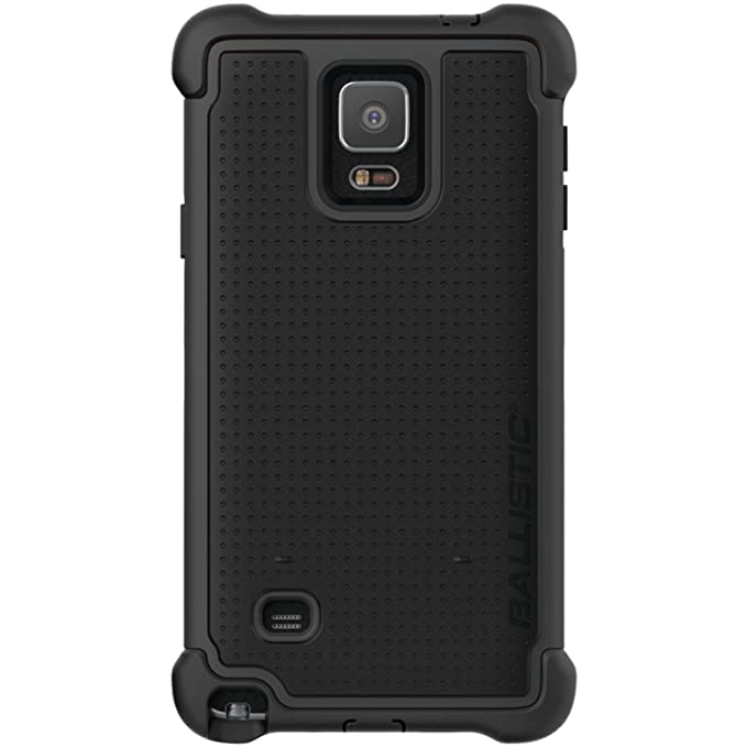 Ballistic Tough Jacket Maxx Case with Holster Clip for Samsung Galaxy Note  4 - Retail Packaging - Black